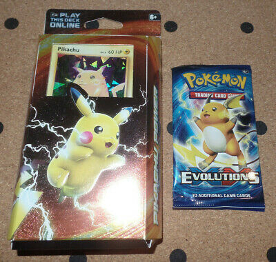 Pokemon Pikachu Power Theme Deck With Evolutions Booster Pack. SEALED