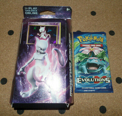 Pokemon Mewtwo Mayhem Theme Deck With Evolutions Booster Pack. SEALED