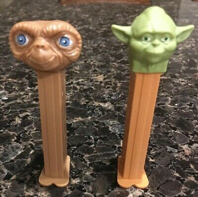pez dispensers Yoda Star Wars And ET Extra Terrestrial.