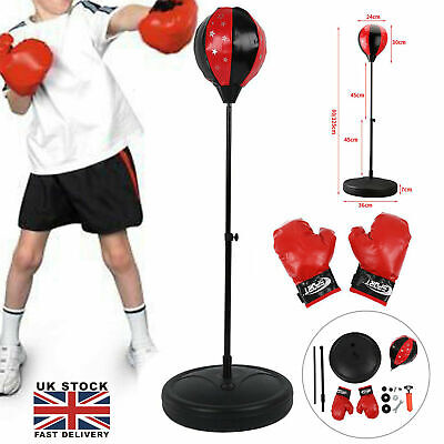 KIDS CHILDREN'S FREE STANDING JUNIOR BOXING PUNCH BAG BALL GLOVES PLAY GIFT Xmas