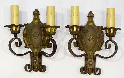 Pair ART DECO Vintage ARTS CRAFTS Antique MARKEL WALL SCONCE Light Fixture