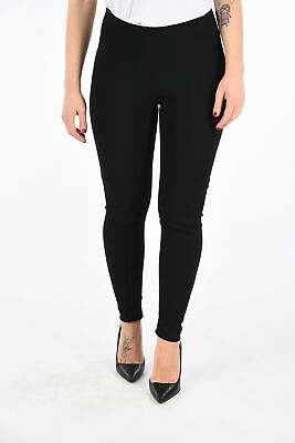 GARETH PUGH women Trousers Black Pants Sz 40 IT Leggings With Stretch Pannel ...