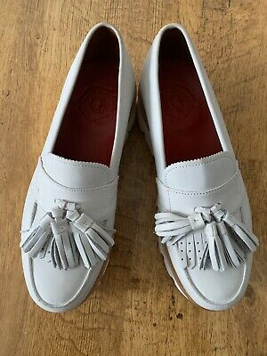 GRENSON - Summer Grey Loafers - Size UK 7