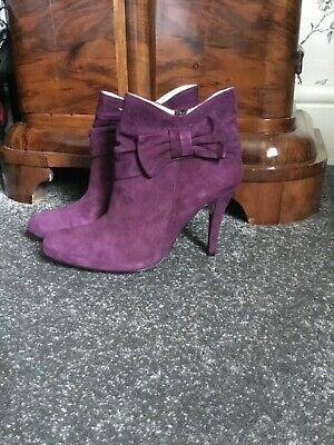 Duo suede purple ankle boots size 40