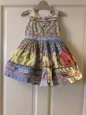 "Girls Next Rare "" Bee & Ladybird"" Patchwork Prom Style Dress Age 3 - 4  Years"
