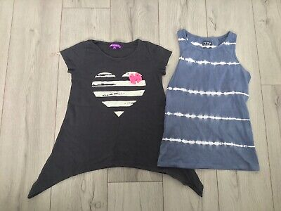 Small Bundle of Two Girls Tops All Age 9 From Next and M&S