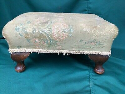 Antique Vintage Footstool, self isolating upholstery project