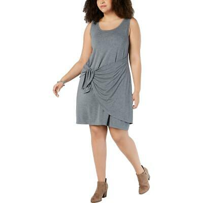 Style & Co. Womens Gray Sleeveless Casual Faux Wrap Tank Dress Plus 2X BHFO 8492