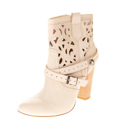RRP €105 FORMENTINI Leather Ankle Boots EU38 UK5 US8 Heel Cut Out Made in Italy