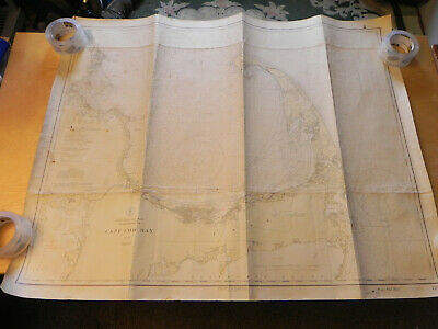 Cape Cod Bay nautical chart 1929 VERY LARGE