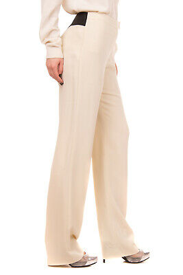 RRP €220 LES COPAINS Tailored Trousers Size 44 Stretch Two Tone Elasticated Back