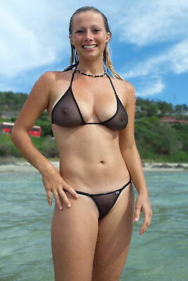 "24""x36""  Poster Public Nudity Cameltoe Wet Chicks Bikini, see through nipples"