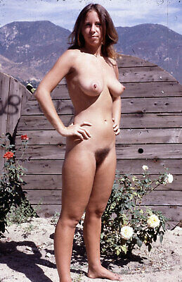 "24""x36""  Poster Vintage Nude Pics - Hairy Nudist Girl Retro Sex Hot Photos"