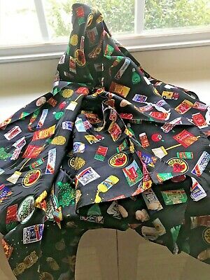 Original ShopRite Grocery Store -  Silk Scarf  - from the 80's  - FREE $HIPPING