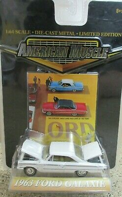 1963 White Ford Galaxie American Muscle ERTL 1:64 NIP