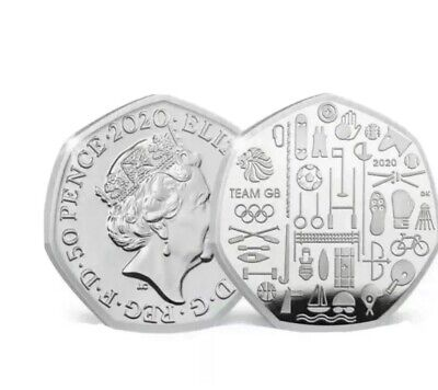 2020 Team GB Tokyo Olympics 50p Coin - BUNC New Fifty Pence Rare ((PREORDER))#