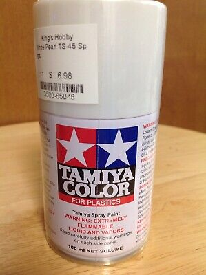 KHS - TAMIYA COLOR ITEM #TS-45 PEARL WHITE SPRAY PAINT 100ml CAN