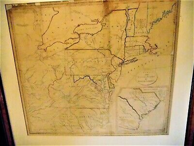 """1798 Map """"Part of the U.S. of North America by J. Stockdale Piccadilly.. REDUCED"""