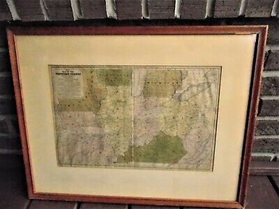 No; 9 MAP OF WESTERN STATES...Mitchell's 1839 AUTHENTIC...11 x 16.5  REDUCED $50