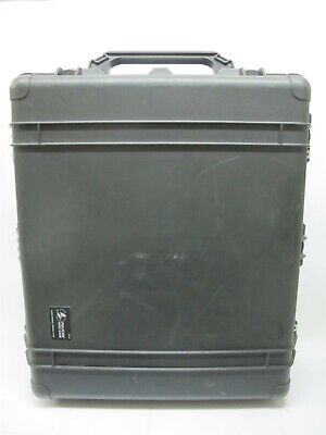 Pelican 1690 Transport Case Black with Casters Pull-Handle Foam Insert
