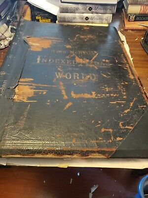 Vintage 1893 Rand McNally Indexed Atlas of the World
