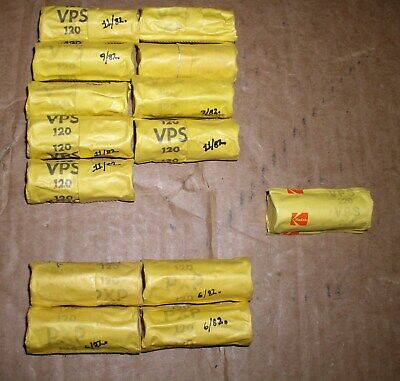 14 Sealed Rolls Of Vintage Expired Kodak VPS and PXP 120 Film