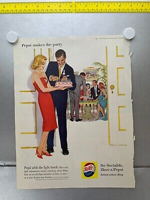Very Rare! Fantastic Lot Of 19 Vintage 1952-1966 Pepsi Full Page Magazine Ads