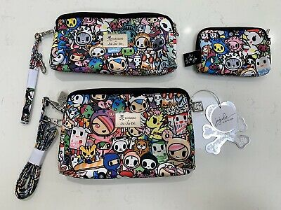 NWT Ju-Ju-Be Tokidoki Iconic 2.0 Be Set THREE BAGS Purse Diaper Organizer Jujube
