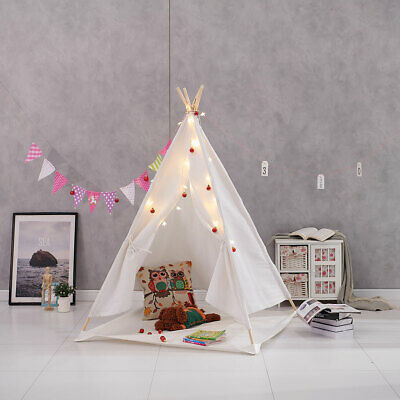 Kids Teepee Wigwam Childrens Play Tent Childs Garden Indoor Toy 100% Canvas New