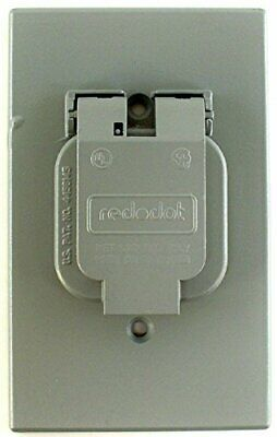 Steel City Red Dot WR104-CV Weatherproof Single Outlet Cover, Stay Open Lid