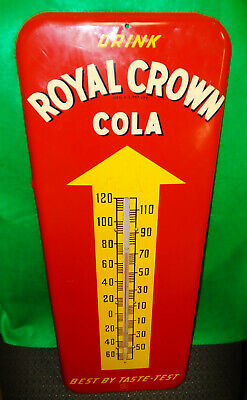 """Royal Crown Cola """"Thermometer"""" Sign, Donasco 11/51, Gorgeous, Clean Condition!!!"""
