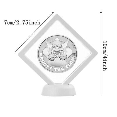 SIMPSON KRUSTY THE CLOWN 1oz Silver Coin in capsule Tuvalu 2020 in display stand