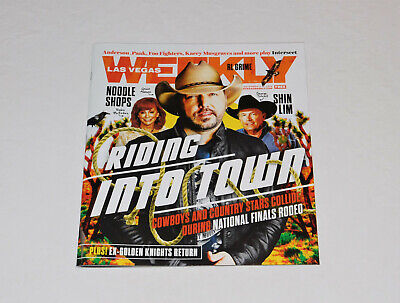 Las Vegas Weekly Magazine Cowboys & Country Stars Issue Aldean Reba Strait + NEW