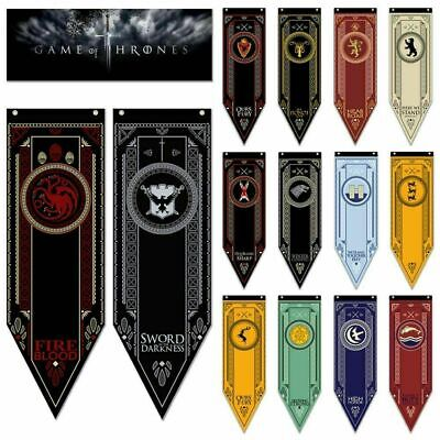 Game of Thrones Banner House Bar Wall Hanging Decor Flag Stark Baratheon TYRELL