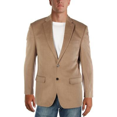 Lauren Ralph Lauren Mens Tan Wool Blend Two-Button Blazer Jacket 42L BHFO 6990
