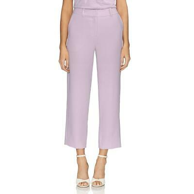 Vince Camuto Womens Parisian Purple Crepe Straight Leg Cropped Pants 4 BHFO 2079