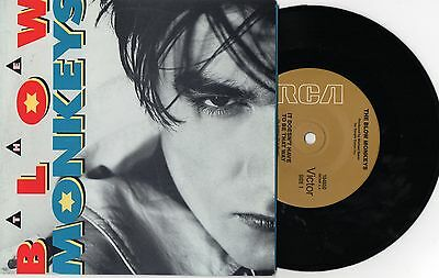 """THE BLOW MONKEYS - IT DOESN'T HAVE TO BE THAT WAY - 7"""" RECORD w PICT SLV - 1986"""