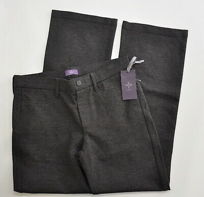 NYDJ Size 6P Women's 6 Petite Ponte Trouser Pant Gray Pull On Baby Bootcut New