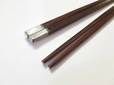 10 Pairs Vietnamese Natural Wood Chopsticks With Mother Of Pearl Inlay CST/_0003