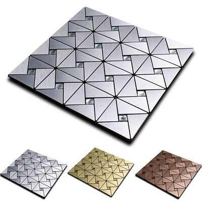 Mosaic Aluminum Back Plank Wall Floor Tile Self Adhesive Peel And Stick Home