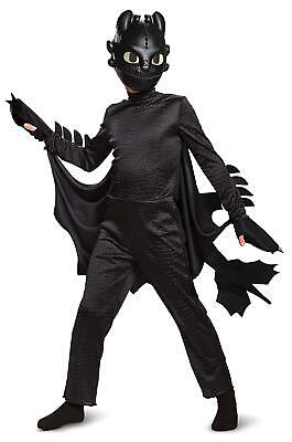 Toothless How to Train Your Dragon Deluxe size S 4/6 Kids Costume Disguise