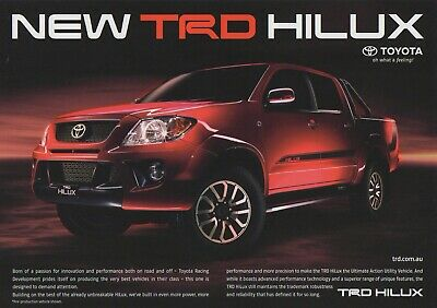 Toyota TRD Hilux Supercharged Brochure from Australia