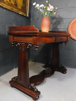 A GOOD QUALITY EARLY ANTIQUE 19th CENTURY MAHOGANY CONSOLE SIDE TABLE