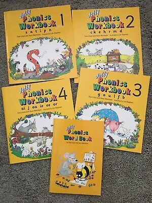 jolly phonics books Workbooks1,2,3,4 And Word Book Homeschooling Home Learning