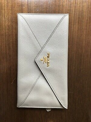 Prada Grey Envelope Purse/ Wallet