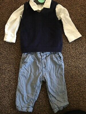 Marks And Spencer Autograph Baby Boys 3 Piece Outfit Size 6-9 Months