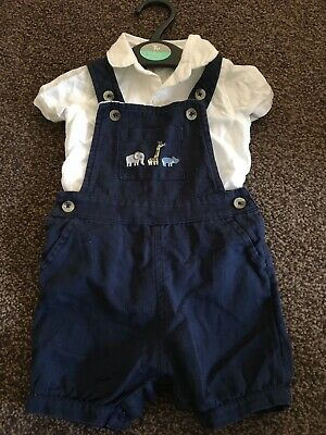 Marks And Spencer Baby Boys Dungarees Size 0-3 Months