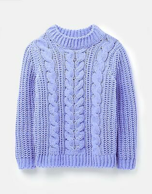 Joules Girls Amberly Dry Handle Chenille Jumper  - BLUE