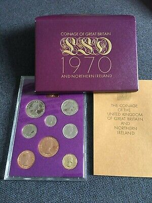 1970 UK Royal Mint Proof Coin Year Set - GB Coinage -