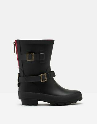 Joules Girls Biker Wellies - TRUE BLACK